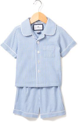 Petite Plume Boy's Seersucker Pajama Short Set, Size 6M-14