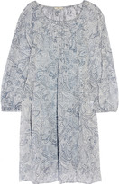 Joie Achroite printed silk mini dress