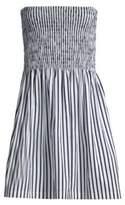 ATM Anthony Thomas Melillo Poplin Stripe Ruched Dress