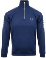 Fred Perry Half Zip Taped Track Top Blue