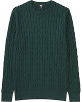 Uniqlo Men Cable Crewneck Sweater