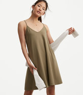 LOFT Lou & Grey Sueded Jersey Swing Dress