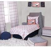 Bacati Olivia Tribal Buck Feathers Triangles Muslin 4 Piece Toddler Bedding Set
