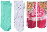 Fashion Angels 3-pk. Photorealistic No-Show Socks - Girls