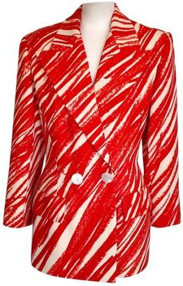 Guy Laroche Red Wool Jacket for Women Vintage