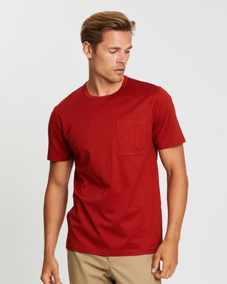 Gieves And Hawkes Jersey T-Shirt with Monogrammed Breast Pocket