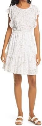 Rebecca Taylor Zadie Floral Linen Jersey Dress