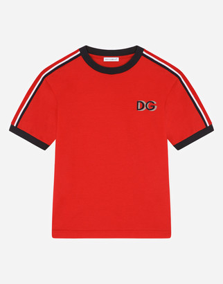 Dolce & Gabbana Jersey T-Shirt With Flocked Detail