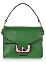 Coccinelle Women's Green Leather Shoulder Bag.