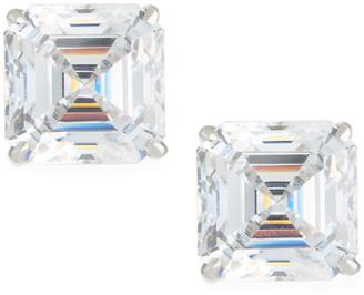 FANTASIA Asscher-Cut Stud Earrings, 10tcw