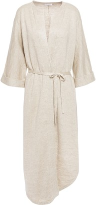 Brunello Cucinelli Melange Linen And Silk-blend Cardigan