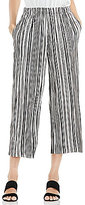 Vince Camuto Stripe Pleat Knit Straight Leg Crop Pant