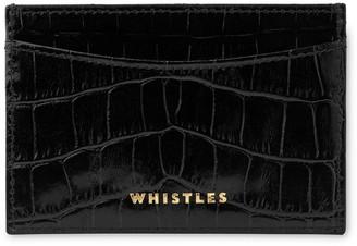 Whistles Shiny Croc Card Holder