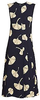 Victoria Beckham Women's Paneled Floral Flare Dress