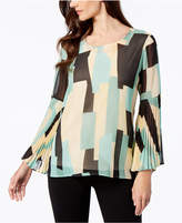 JM Collection Pleated Sleeve Blouse, Created for Macy's