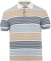 Etro Striped cotton and cashmere polo shirt