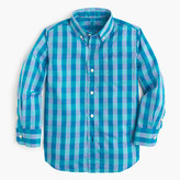 J.Crew Boys' Secret Wash shirt in spring gingham