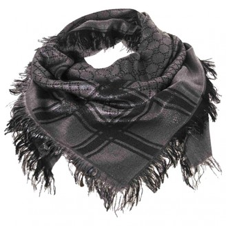 Gucci Silver Wool Scarves