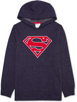 Superman Logo-Print Pullover, Big Boys (8-20)