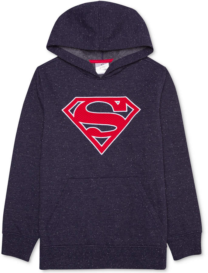 DC Comicsandreg; Superman Logo-Print Pullover, Big Boys