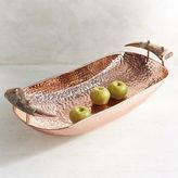 Pier 1 Imports Hammered Copper Oval Decorative Bowl