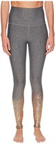 Beyond Yoga Alloy Ombre High Waisted Midi Leggings (Black/White Rose Gold Speckle) Women's Casual Pants
