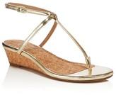 Splendid Ember Metallic Demi Wedge Thong Sandals