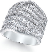 Macy's Diamond Baguette Cluster Ring (3 ct. t.w.) in 14k White Gold