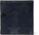 Valentino - Star-appliquéd Canvas And Leather Billfold Wallet