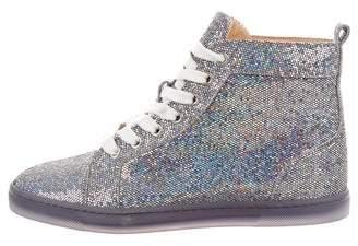 Christian Louboutin Glitter High Top Sneakers