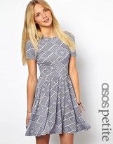 Asos Exclusive Skater Dress With Scoop Back