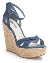 BCBGeneration Holly Suede Espadrille Wedge Sandals