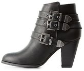 Charlotte Russe Three-Buckle Ankle Booties