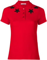 Givenchy star appliqué polo shirt - women - Cotton - 36