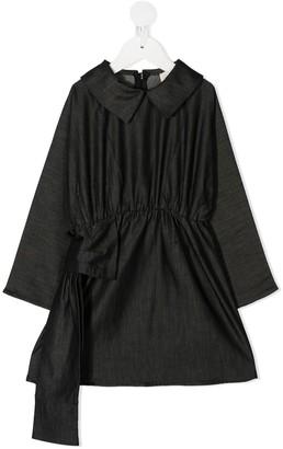 Douuod Kids Smocked Side-Bow Dress