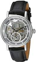 Ingersoll Unisex Automatic Watch with Black Dial Analogue Display and Black Leather Strap IN1918SL