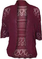 RM Fashions Womens Plus Size Crochet Knit Bolero Cardigan Shrug Top XXXL