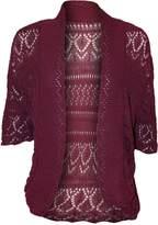 RM Fashions Womens Plus Size Crochet Knit Bolero Cardigan Shrug Top