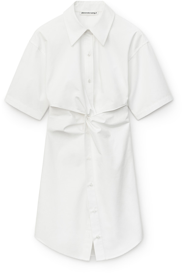 alexanderwang.t Poplin Mini Shirt Dress
