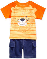 Nannette 2-Pc. Lion Roar T-Shirt and Cargo Shorts Set, Baby Boys (0-24 months)