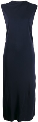 Helmut Lang Twist-Detail Sleeveless Dress
