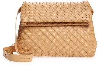 Bottega Veneta The Fold Intrecciato Leather Crossbody Bag
