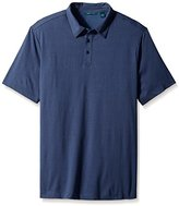 Perry Ellis Men's Big-Tall Printed Texture Polo