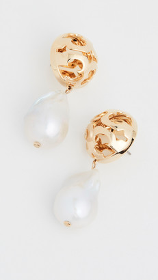Tory Burch Bubble Miller Pearl Drop Earrings