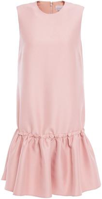 Victoria Victoria Beckham Fluted Faille Mini Dress