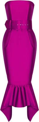 Rasario Strapless Silk Satin Gown