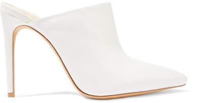 Alexandre Birman Amaliah Leather Mules - White