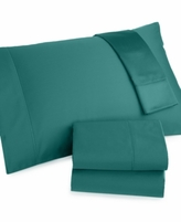Charter Club Damask CLOSEOUT! Damask Solid 500 Thread Count Pima Cotton Extra Deep Pocket Full Sheet Set