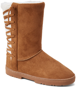 Cognac Lace-Up Back Boot