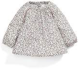Mamas and Papas Baby Girls' Aop Smock O/Wht Blouse